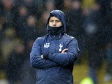 Tottenham Hotspur manager Mauricio Pochettino watches on during the Premier League clash with Watford at Vicarage Road on January 1, 2017