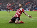 Southampton forward Shane Long in action during the Premier League clash with West Bromwich Albion at St Mary's on December 31, 2016